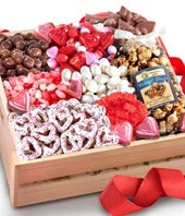Valentine's Gourmet Chocolate Basket - Deluxe