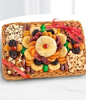 Holiday Fruit and Nut Dried Fruit Basket