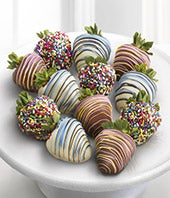 Chocolate Dip Delights� Sweet Celebrations Real Chocolate Covered Strawberries - 12-piece
