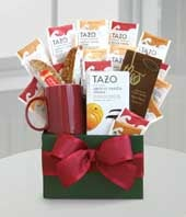 Tazo tea gift basket for delivery