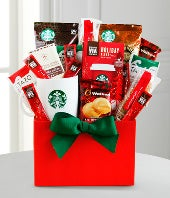 Starbucks� Christmas Gift Basket