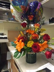 Seattle customer image of birthday flowers he ordered