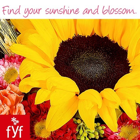 Find your sunshine and blossom.