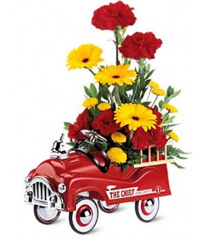 Fire Engine Bouquet Fathers Day Flowers Flowers for Men