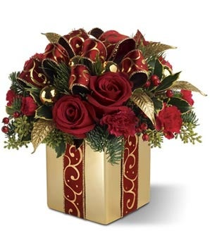 Holiday Gift Bouquet: Holiday Flowers, Christmas Flower Arrangements ...