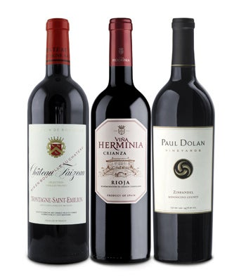 90+ Point Red Wine Trio Gift