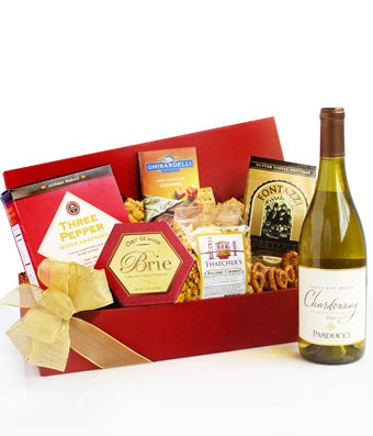 Tempting Treats Chardonnay Gift Basket