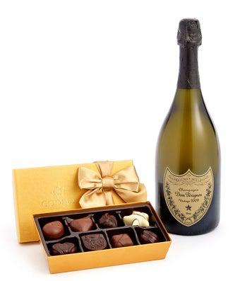 Dom Perignon & Godiva 18-Piece Chocolate Truffles