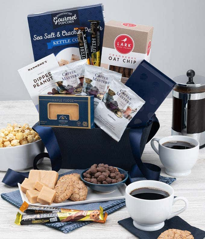 All chocolate gift with Ghirardelli, cookies and truffles.