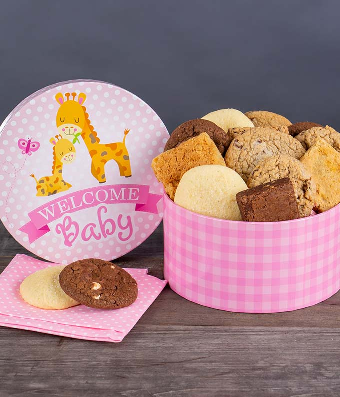 New Baby Girl Cookies and Brownies