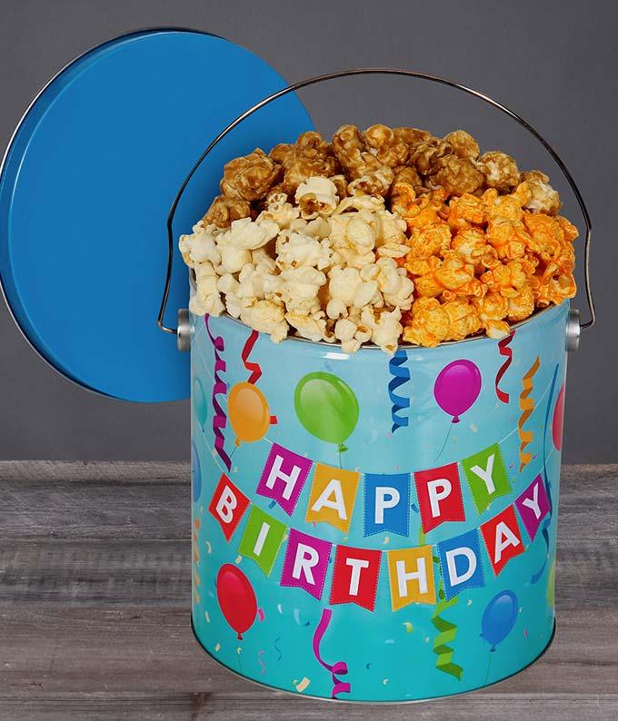 Happy Birthday Kettle Popcorn Tin