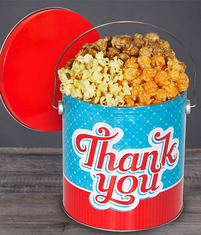 Fun Thank You Popcorn Tin