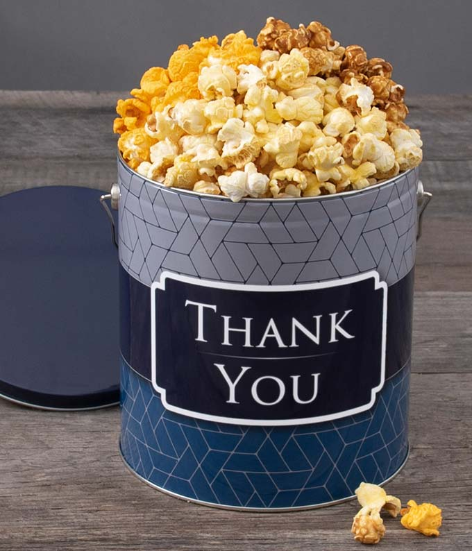 Thank You Kettle Popcorn Tin