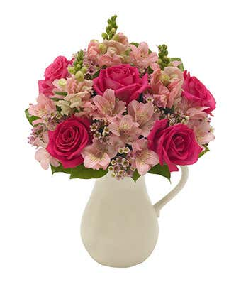Pink Petals Bouquet In A Pitcher At From You Flowers