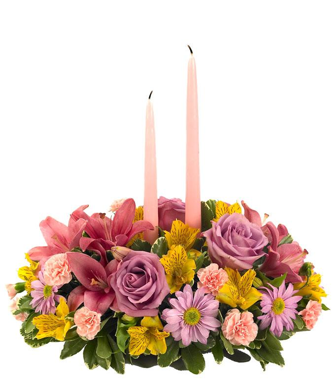 Easter centerpiece with pastel flowers for delivery