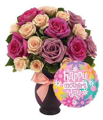 Mother\'s Day Roses & Balloon Bouquet at From You Flowers