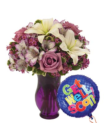 Simple Sophisticated Bouquet Get Well