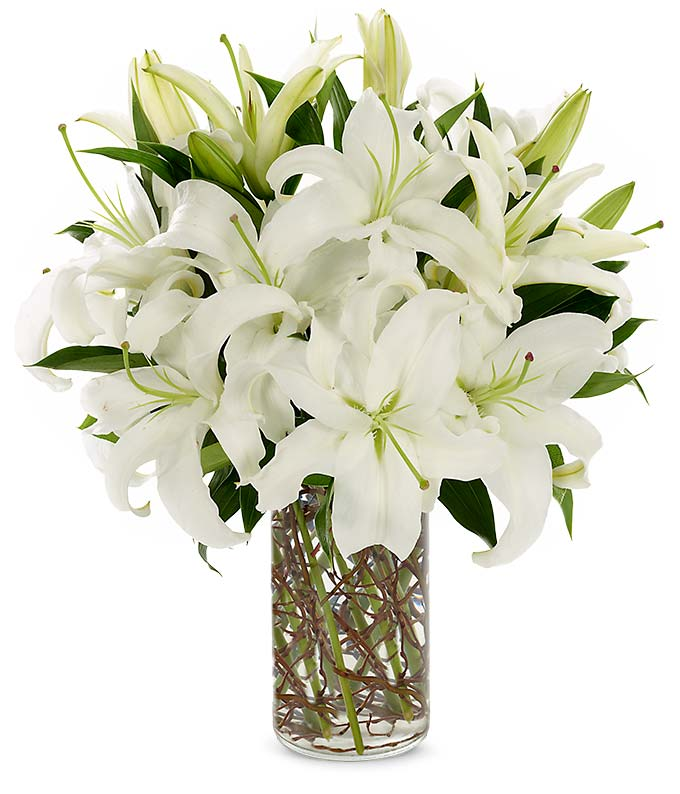 White flowers white flower delivery fromyouflowers simply lily white mightylinksfo Image collections