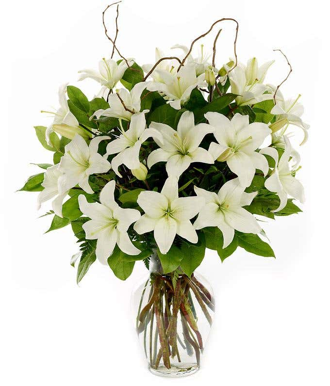 Loving Lilies White At From You Flowers