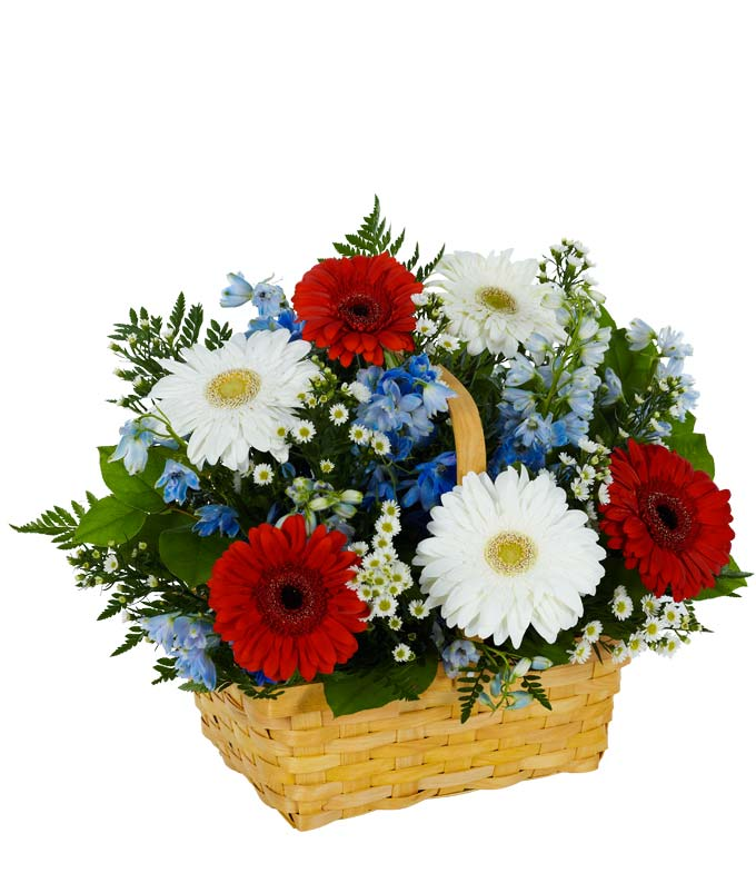 Salute to the Red, White & Blue Basket