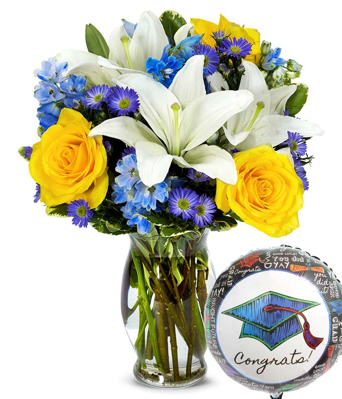 Graduation Bouquet Amp Balloon At From You Flowers