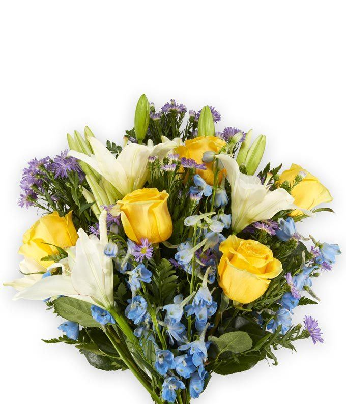 The Bright Blue Skies Bouquet At From You Flowers