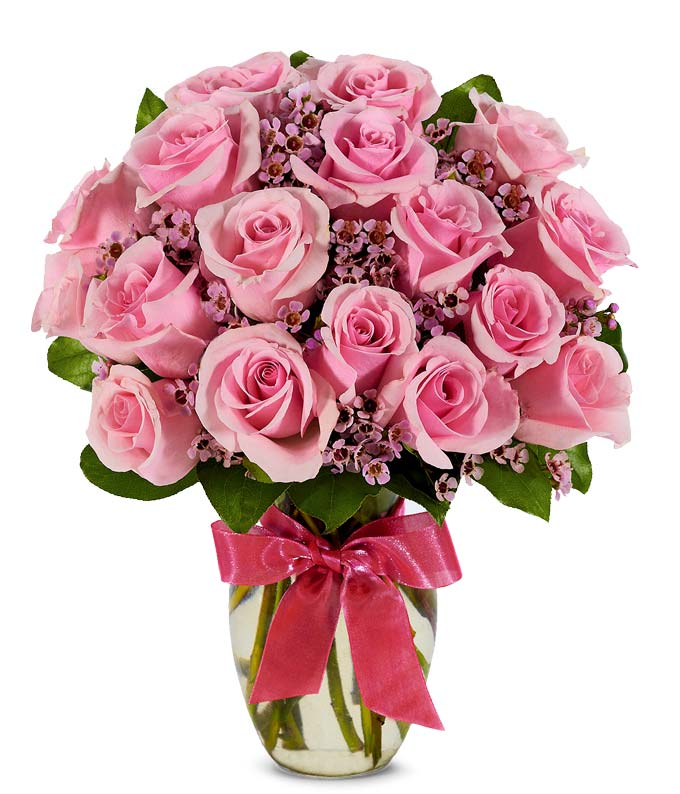 pure pink rose bouquet - photo #49