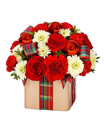 Holiday Flower Gift Present