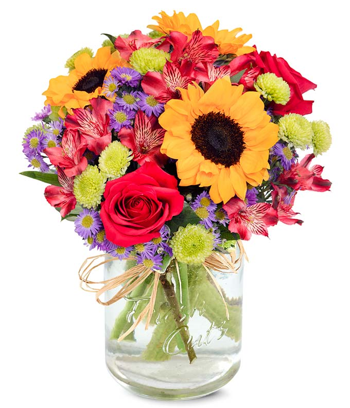 Flower Fields Mason Jar At From You Flowers