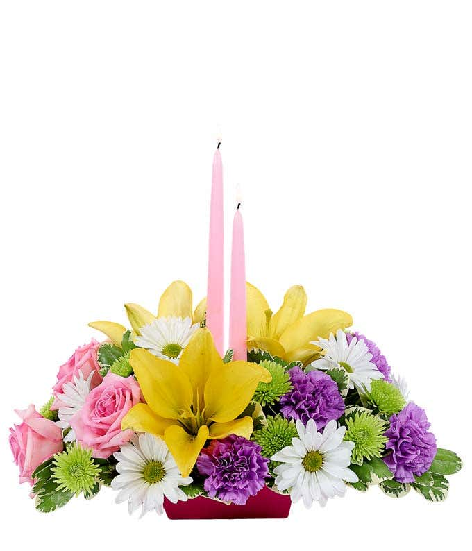 Happy easter centerpiece at from you flowers easter flower centerpiece for same day delivery mightylinksfo