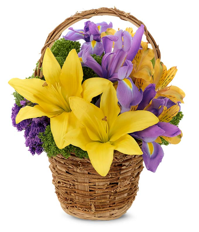Lily and Iris Easter Basket