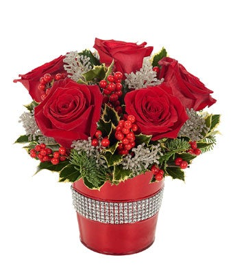Holiday Rose Amp Glitter Bouquet At From You Flowers
