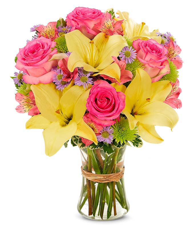 Vibrant beauty bouquet at from you flowers - Bouquet de rose artificielle ...