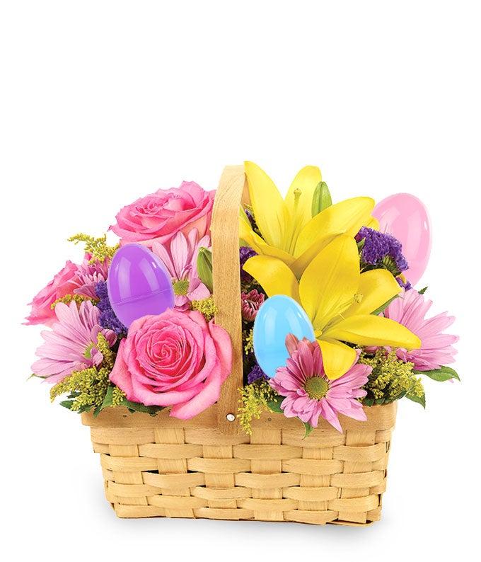 Easter Egg Floral Basket