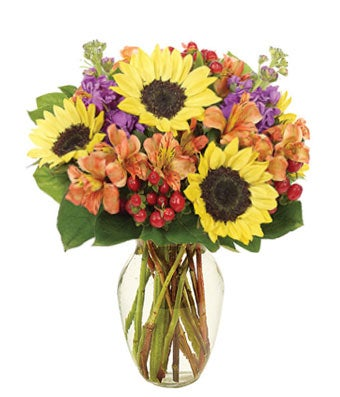 Fall mixed flower bouquet