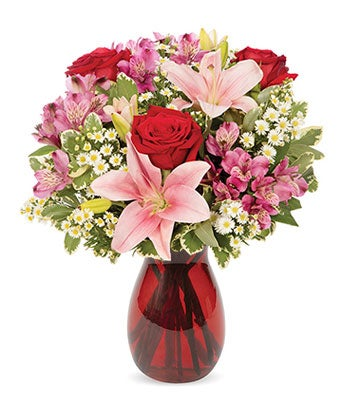 Romantic Mixed flower arrangement