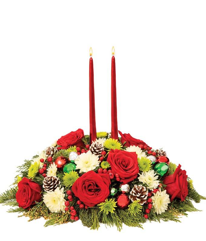 Christmas Joy Rose Centerpiece