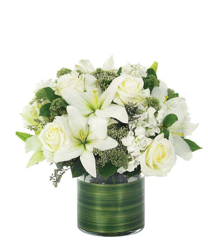bcf1bc958c Lovely Lily & Roses Bouquet - All White at From You Flowers