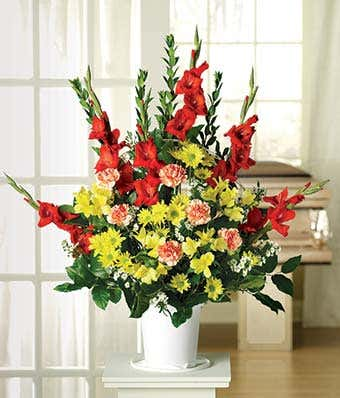 Red Gladiolus Sympathy Bouquet