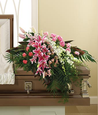 In Her Honor Casket Spray At From You Flowers