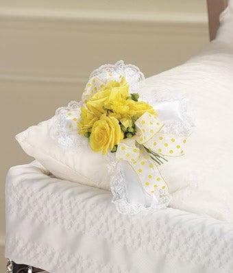 Yellow Rose & Alstroemeria Pillow Cross