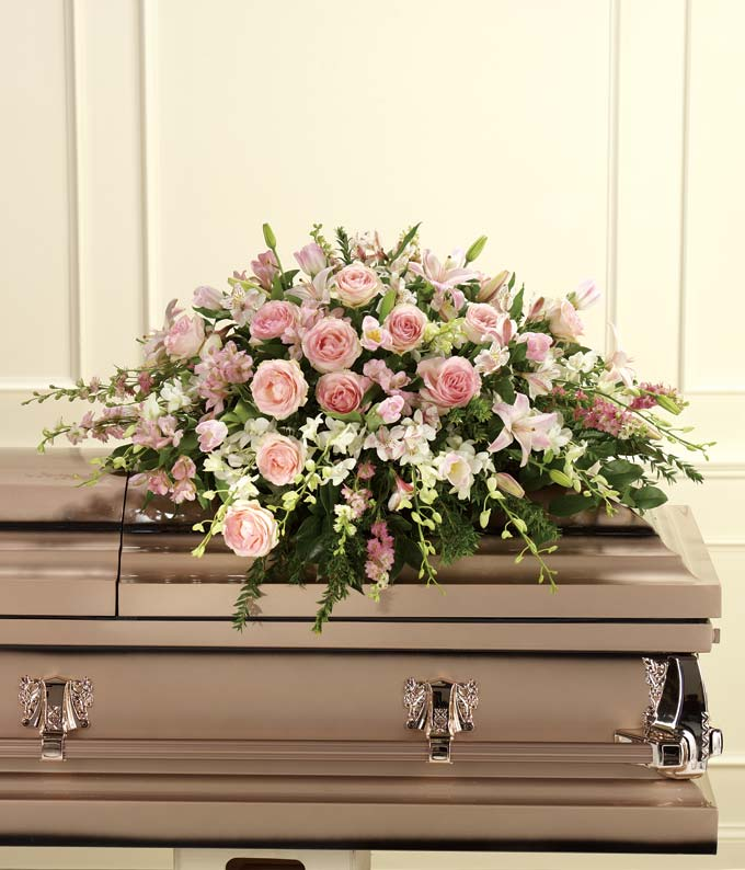 An Elegant Tribute Casket Spray At From You Flowers
