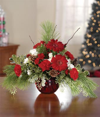 christmas floral arrangements traditional greetings at from you flowers 30492