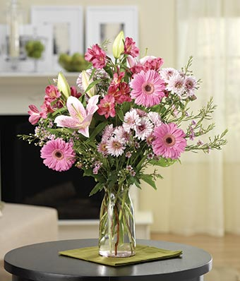 Deluxe Pink Flower Bouquet At From You Flowers