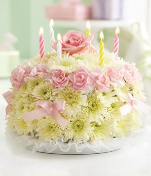 Images Of Birthday Cake With Bouquets : Birthday Flower Cake  - Pastel at From You Flowers