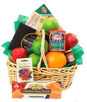 Fruit and snack basket for gift delivery today