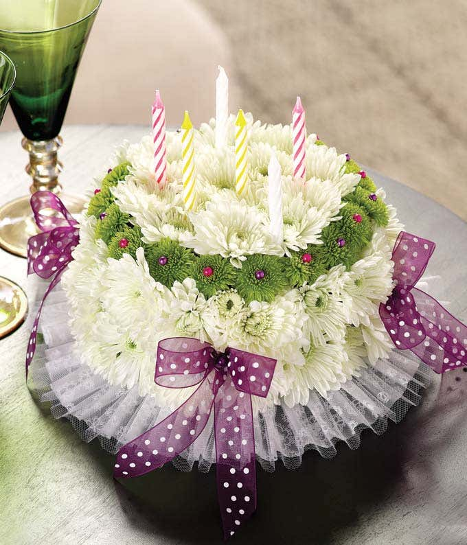happy birthday flowers image It's Your Happy Birthday Flower Cake at From You Flowers happy birthday flowers image