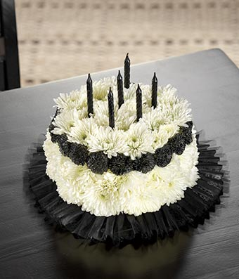 Over The Hill Flower Cake