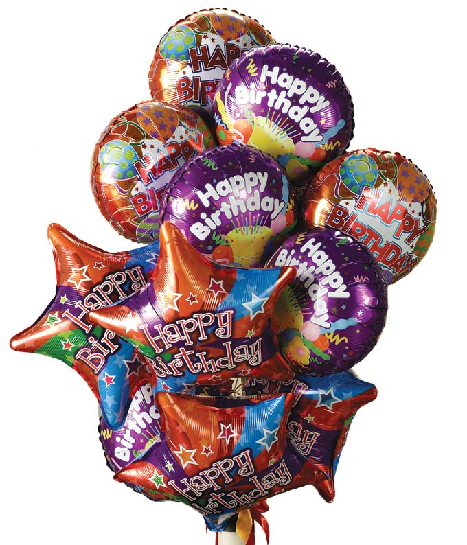 One Dozen Birthday Balloons