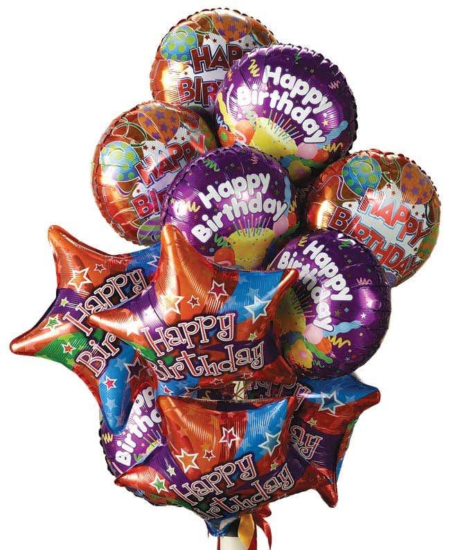 One Dozen Birthday Balloons Delivery